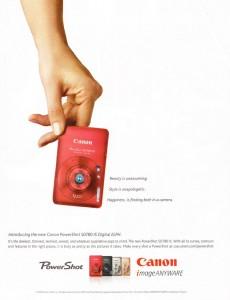 Canon Powershot magazine ad