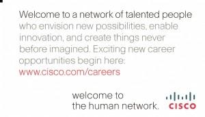 cisco recruiting biz card front