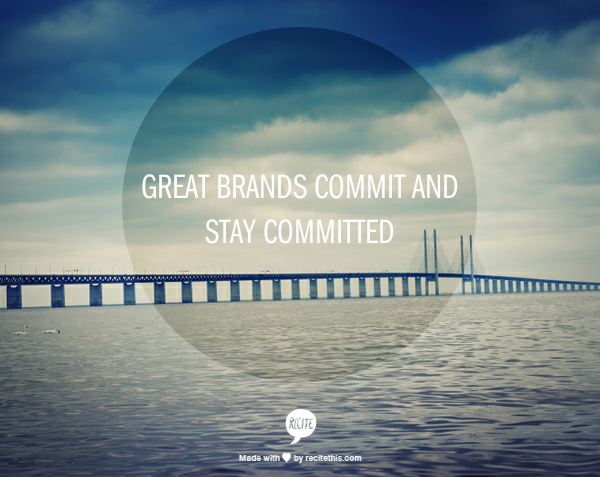 commit and stay committed