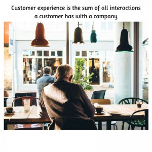 customer experience as the sum of all interactions a customer has with a company