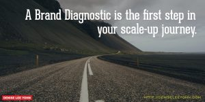 scale-up your brand -- start with a brand diagnostic