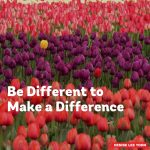 Be Different to Make a Difference